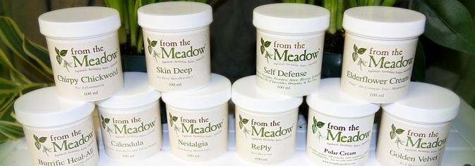 A display of containers of hand cream